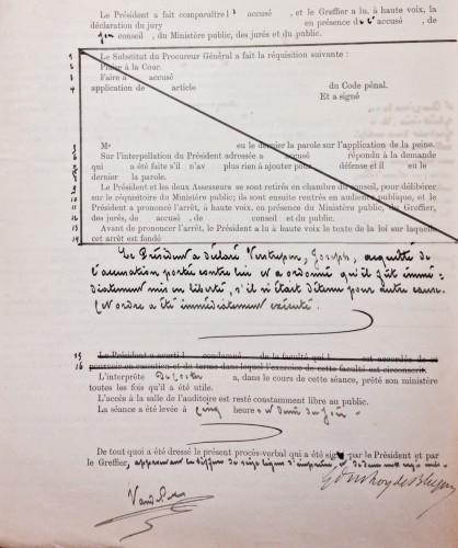 AGR2, Cour d'Assises de Brabant, Case file 1307, 1905.