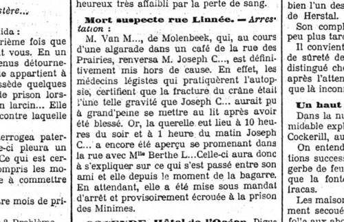 KBR, L'indépendance belge,  09/06/1907, p. 4.