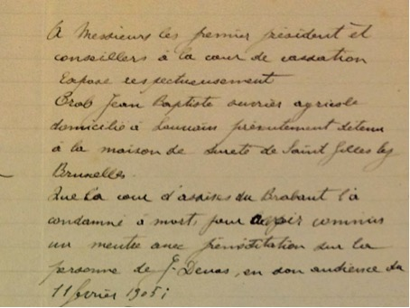 AGR2, Cour d'Assises de Brabant, Case file 1304