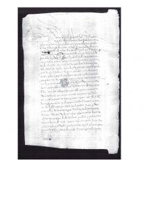 Real Provisión expedida por la Real Audiencia y Chancillería de Santa Fe en 1553