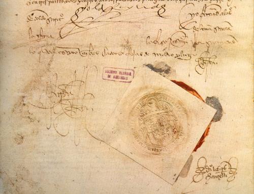 Sello real de los Reyes Católicos, Archivo General de Simancas