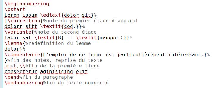 Deuxième exemple Ledmac