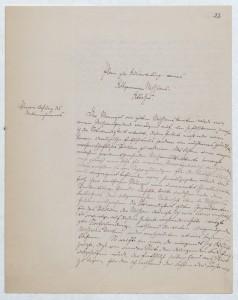"""Erste Seite von Reinhold Grundemanns """"Plan zur Ausarbeitung eines Allgemeinen Missions-Atlasses"""" (17.11.1864); Quelle: SPA ARCH MFV 144/1, 22r (Forschungsbibliothek Gotha, Sammlung Perthes)"""