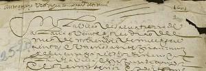Letra procesal encadenada de principios del siglo XVII
