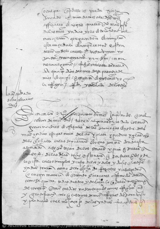 Tercera y última sesión Real Cédula 1536