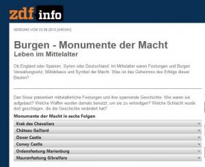 Screenshot der Seite mit den Themen der Folgen (Quelle: siehe Link zur Seite)