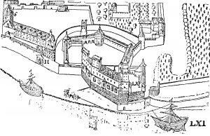 Die Martinsburg um 1575.