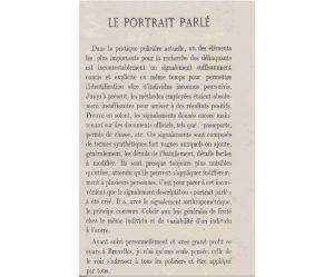 Louis Strauven, Coursp ratique à l'usage des policiers de tous grades appelés à appliquer le portrait parlé, Liège, 1922