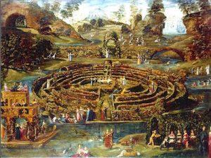 Lodovico-Pozzoserrato-Toeput-Jardin-de-plaisir-avec-un-labyrinthe-1579-1584-Londres