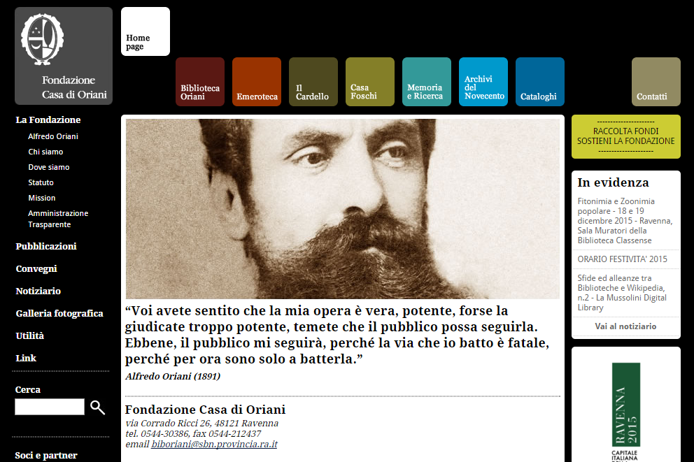 http://www.fondazionecasadioriani.it/index.php