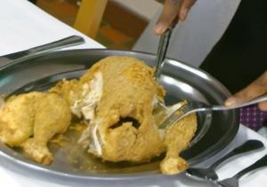 Découpe du poulet à la Sainte-Ménéhoulde