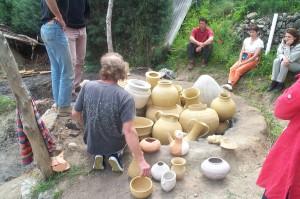 Figure 3 : four portugais à Bélesta en 2003, chargement.
