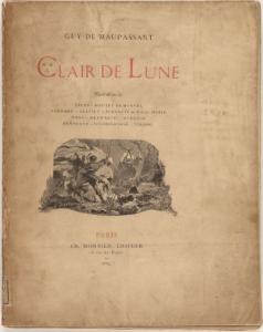 """Frontespizio della raccolta """"Clair de Lune"""" nella sua prima edizione del 1884."""