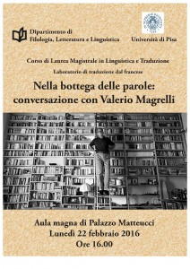 Locandina Magrelli, 22-02-2016