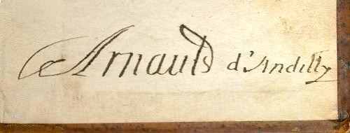 Ex-libris Arnauld (contre-garde)
