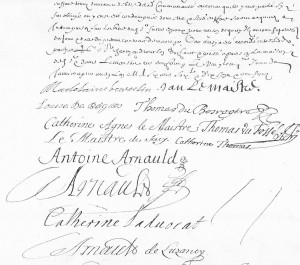 Signatures frères Arnauld