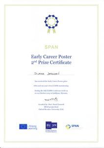 Dijana Jerkovic SPAN 2nd Poster Prize