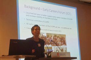 Angelina Brotherhood presenting the Activity Report to the EUSPR Membership