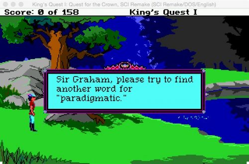 "Sir Graham, please try to find another word for ""pardigmatic"","