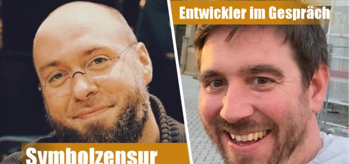 Entwickler im Gespräch: Johannes Kristmann (Links) und Jörg Friedrich (Rechts)