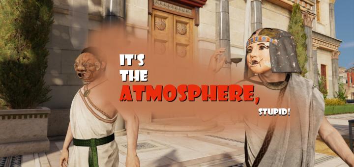 Eine Szene aus Assassin's Creed Origins (2017), eingefangen mit dem spielinternen Foto-Modus.