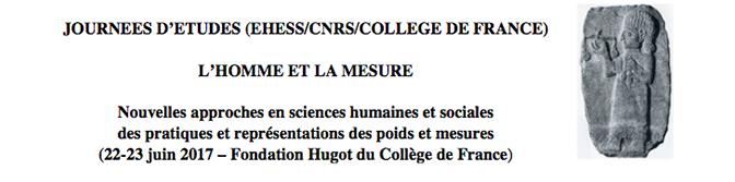Nouvelles approches en sciences humaines et sociales des pratiques et représentations des poids et mesures