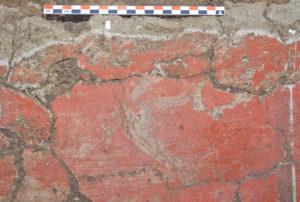 Fig. 3. Détail d'une peinture de l'enclos funéraire A42 de la nécropole de Cumes (photo : D. Neyme)