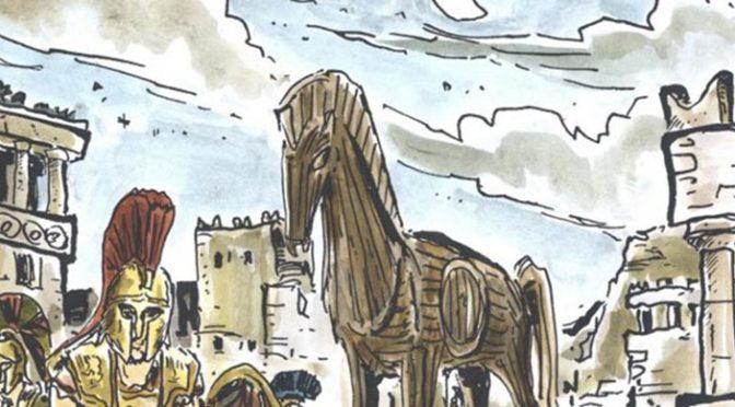 La guerre de Troie. Ouvrage jeunesse et livre jeu