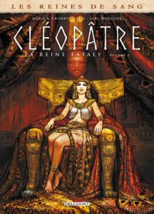 Fig. 1. Cléopâtre sur son trône (couverture du volume)