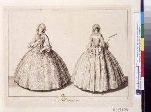 Modes du temps, 1729, plate 4, Antoine Herisset (1685-1769). Paris, Bibliothèque nationale de France, Estampes et photographie, OA-79-PET FOL
