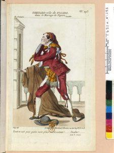 Thénard rôle de Figaro, dans le Mariage de Figaro, Paris, Bibliothèque nationale de France, département Estampes et Photographie, Tb32a n°293