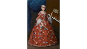 Young Woman with a Harpsichord, Anonymous, Mexico, 1735-1750, oil on canvas Denver Art Museum, Gift of the Collection of Frederick and Jan Mayer, 2014.209