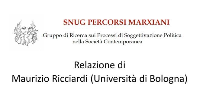 Seminario di Ricerca. Relazione di Maurizio Ricciardi, 16/12/2019