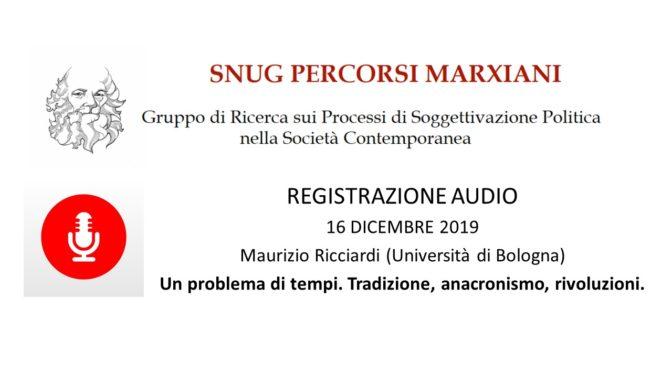 Seminario Di Ricerca 2019/2020. Registrazione Relazione Maurizio Ricciardi