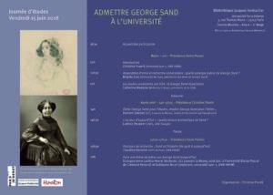 Affiche-programme journée d'études George Sand