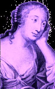 Portrait gravé de Mme de La Fayette