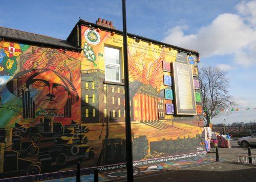 Mural en mémoire de l'Easter rising - Falls Road - 03.03.2016 - Cécile Walder
