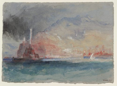 Gènes depuis la mer Genoa from the sea c.1828 Joseph Mallord William Turner 1775–1851 Tate, Accepted by the nation as part of the Turner Bequest 1856 CCLIX 213, http://www.tate.org.uk/art/artworks/turner-genoa-from-the-sea-d24778 CC-BY-NC-ND (3.0 Unported)