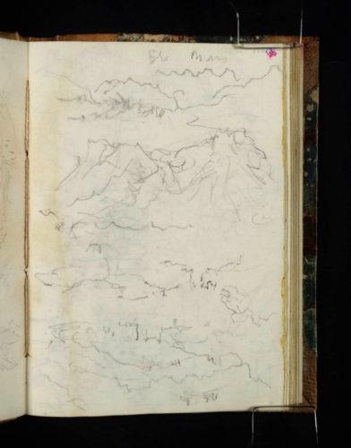 Monetier-Allemont, plusieurs croquis du cadre montagneux de la vallée de la Durance, en particulier vers le nord