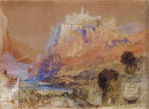 La citadelle et la clue de Sisteron vues de la Cazette, William Turner, 1838. Courtesy of the Whitworth, The University of Manchester