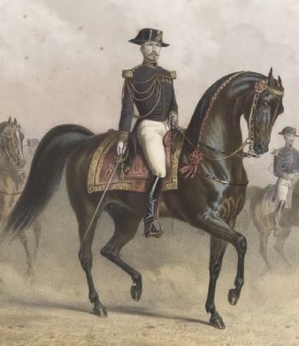 Adam Albert et Drake Tom — Ecole de cavalerie, Javaud, 1864 Domaine public