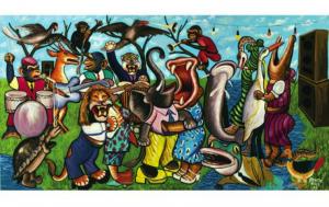 Moke, L'Orchestre dans la forêt, 1999. CAAC – The Pigozzi Collection