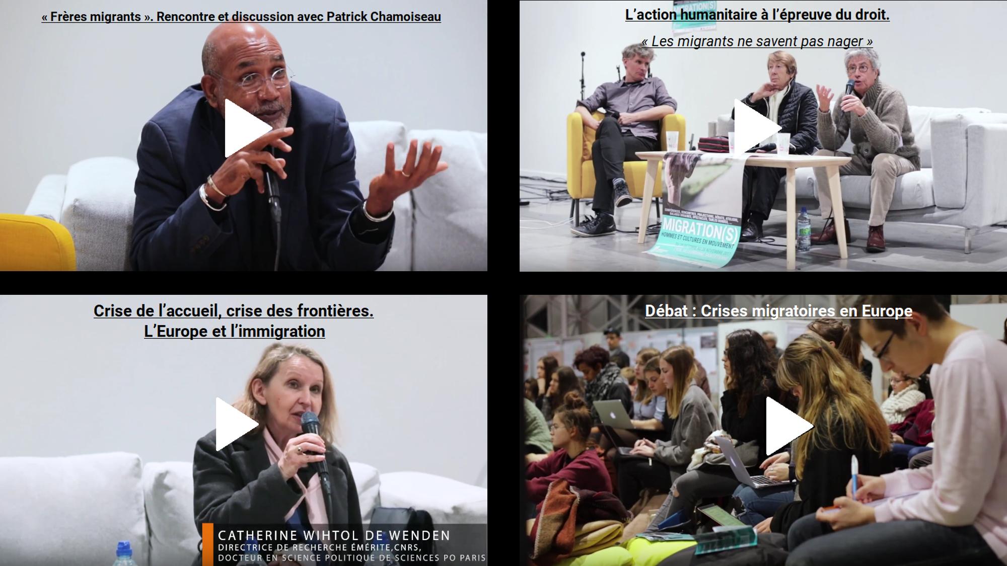 vidéos conférences, migration frontière mémoire