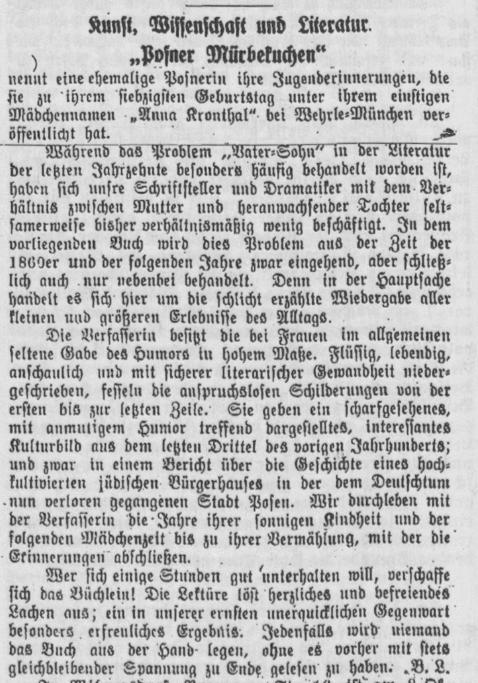 Posener Heimatblätter, Jg. 7, Nr. 2, November 1932. S. 13.