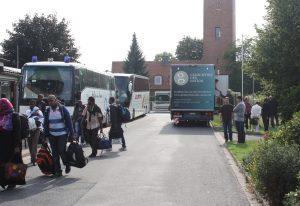 Ankunft von Flüchtlingen in Friedland 2012; Quelle: Museum Friedland, www.museum-friedland.de