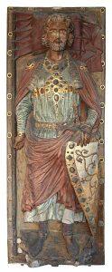 Tumba-Deckplatte des Grafen Wiprecht von Groitzsch aus Sachsen, der den Migrationsaufruf gezeichnet haben soll. Möglicherweise ist die Zeichnung aber auch gefälscht. Foto: KaterBegemot, Wikipedia