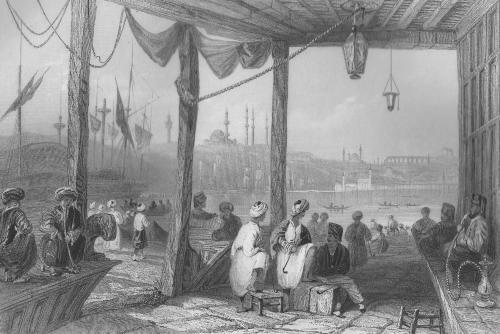 Constantinople, Café de Galata, sd