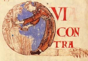 Dijon BM 179 f. 75 moine convers moissonneur