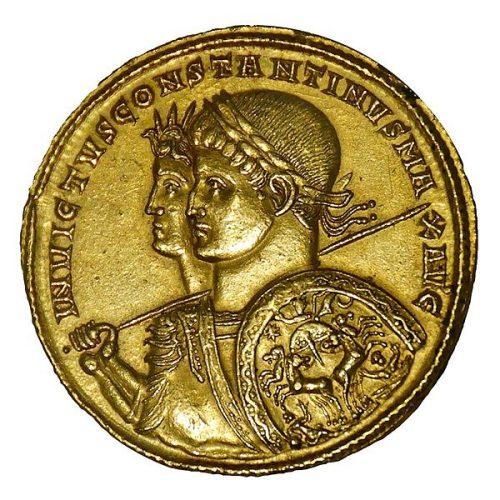 Multiple de 9 solidi de Constantin, Ticinum (313)