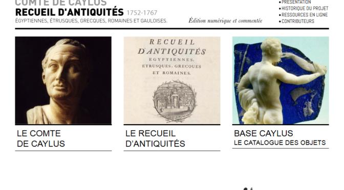 Comte de Caylus. Recueil d'antiquités, 1752-1767